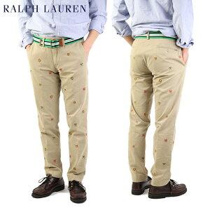 "Polo by Ralph Lauren Men's ""SLIM FIT"" Embroidered Chino Pants ラルフローレン スリムフィット チノパンツ 刺繍 売れ筋"