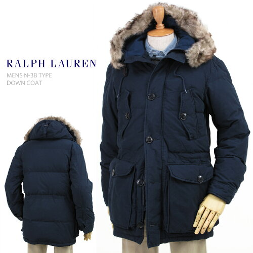 "POLO by Ralph Lauren Men's ""type N-3B"" Down Jacket US ポロ ラルフローレン N-3Bタイプ ダウン..."