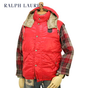 "POLO by Ralph Lauren Men's ""Ripstop"" Down Vest Parka USポロ ラルフローレン フード付 ダウンベスト"