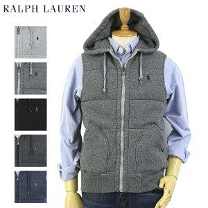POLO by Ralph Lauren Men's Fleece Vest Hoodie USポロ ラルフローレン 中綿入り スウェット ベスト フード