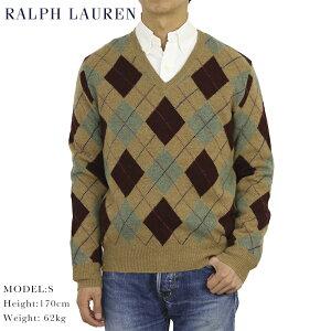 ポロ ラルフローレン アーガイル Vネックセーター POLO Ralph Lauren Men's Argyle Knit Sweater US