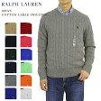 POLO Ralph Lauren Men's Cotton Cable Crew Sweater US ポロ ラルフローレン コットンのクルーネックセーター 売れ筋