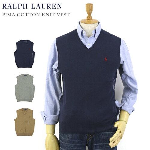 Ralph Lauren Men's Pima Cotton Knit Vest US ポロ ラルフローレン コットン ニットベスト