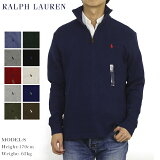 ポロ ラルフローレン メンズ ハーフジップ プルオーバー 無地 スウェット POLO Ralph Lauren Men's French-Rib 1/2 Zip Pullover Sweater US