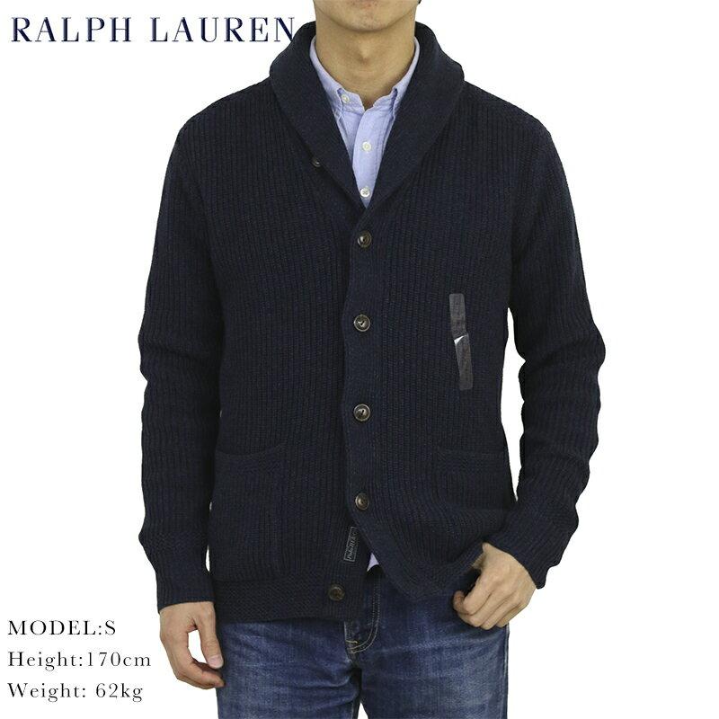 トップス, カーディガン  POLO Ralph Lauren Mens Cotton Rag Shawl Collar Cardigan US