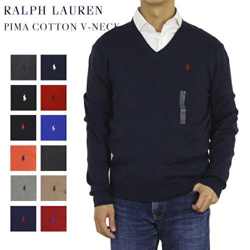 """Ralph Lauren Men's """"PIMA COTTON"""" V-neck Sweater US ポロ ラルフローレン Vネック メンズ コット..."""