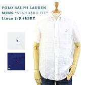 """(2色)Ralph Lauren """"STANDARD FIT"""" Linen S/S B.D. Shirts US ポロ ラルフローレン 麻 リネン ボタンダウン 半袖シャツ 売れ筋"""