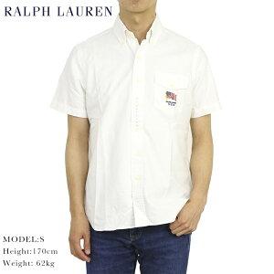 ポロ ラルフローレン クラシックフィット ボタンダウン オックスフォード アメリカ国旗 半袖シャツ POLO Ralph Lauren CLASSIC FIT S/S OXFORD B.D.Shirt USA FLAG