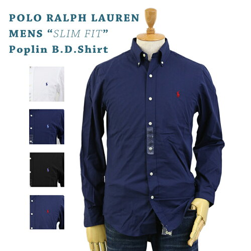 "POLO Ralph Lauren ""SLIM FIT"" Poplin l/s B.D.Shirts US ポロ ラルフローレン 長袖 ブロード ボタ..."
