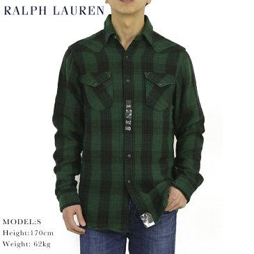ポロ ラルフローレン チェック フランネル ダブルフェイス ウェスタンシャツ 長袖シャツPOLO Ralph Lauren Men's Double-Face Western B.D.Shirts US