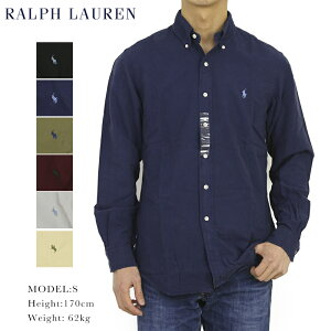 """ポロ ラルフローレン 長袖 クラシックフィット ワンポイント刺繍 後染め ボタンダウンシャツ POLO Ralph Lauren Men's """"CLASSIC FIT"""" Washed-out l/s Oxford B.D.Shirts US (UPS)"""
