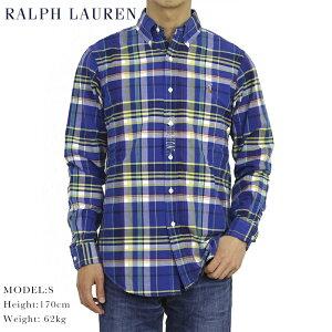 51d617cf ポロ ラルフローレン オックスフォード ボタンダウン 長袖シャツ チェック POLO Ralph Lauren Men's