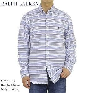 """ポロ ラルフローレン シアサッカー ボタンダウン 長袖シャツ ボーダー クラシックフィット POLO Ralph Lauren Men's """"CLASSIC FIT"""" Seersucker B.D.Shirts US"""
