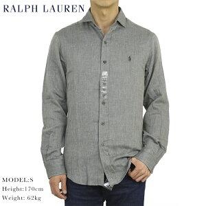 """ポロ ラルフローレン スリムフィット ガーゼヘリンボーン ワイドカラー 長袖シャツ Ralph Lauren Men's """"SLIM FIT"""" Spread-Collar Shirts"""