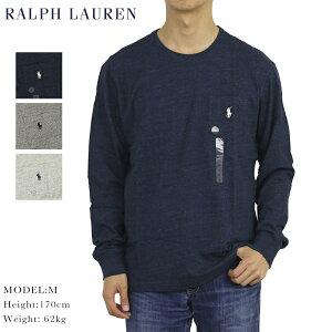 POLO Ralph Lauren Men's Crew l/s T-shirts US ポロ ラルフローレン メンズ 無地 長袖Tシャツ ポケット ワンポイント