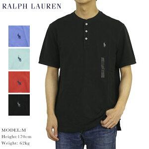 ポロ ラルフローレン メンズ 無地 鹿の子生地 ヘンリーネック Tシャツ ワンポイント POLO Ralph Lauren Men's Featherweight Mesh Crew-Neck T-shirts (UPS)
