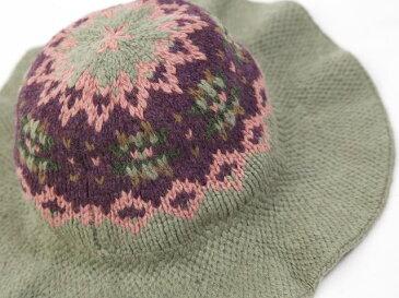WOMEN RUGBY by Ralph Lauren Fairisle Bucket Hat ラグビー レディース ニット帽 ハット