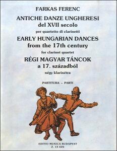 【取寄品】AW340 輸入 17世紀の古いハンガリー舞曲集【クラリネット四重奏】【楽譜】【沖縄・離島以外送料無料】