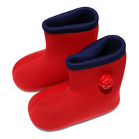 足元からぽかぽか!ブーツタイプの足湯たんぽ♪【送料無料】やわらか湯たんぽ(足用/底付き)
