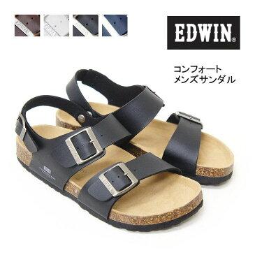 【送料無料】 ※北海道・九州・沖縄は差額負担 EDWIN エドウィン メンズ サンダル コンフォート フットベット eb1002