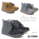 【セール/SALE】レディース ショート ブーツ ボア ファー ブーティー 防寒 冬 靴 アプリズム aprizm hk3972