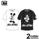 【予約商品】リバーサル REVERSAL Tシャツ 半袖 Mickey Mouse / JIU-JITSU TEE (reversal tシャツ ミッキー コラボ ホワイト ブラック rvMKY14aw002 ストリート)