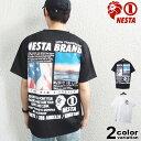 ネスタブランド NESTA BRAND Tシャツ 半袖 メンズ DRY バック フォトプリント Tシャツ (nesta brand tシャツ トップス ネスタ 吸水 速乾 212NB1016) 【あす楽対応】 【メール便対応】