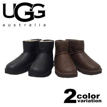 UGG アグ ugg ムートン ブーツ クラシックミニ ウーブン / Classic Mini Woven (2色)[1007886]【 UGG ugg アグ ムートンブーツ ブーツ メンズ レディース 正規品 】【あす楽対応】【楽ギフ_包装】
