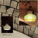 【送料無料】モザイクランプ ステンドランプ ハンドワークランプ 手作り 天井照明 モロッコ風 照明 インテリア ライト 吊り下げタイプ 100W相当 LEDライト対応 ランプ インド【ご発送まで2〜3日営業日必要です】
