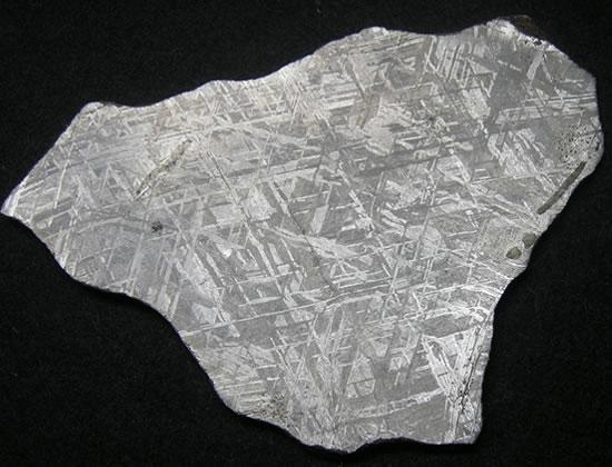 ギベオン・メテオライトスライス 'スピリチュアルな覚醒とインナービジョン、宇宙のエネルギー' 天然石 パワーストーン gib012:ラベンダーストーン