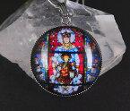 大聖堂ステンドグラスペンダント 聖母マリア シャルトル大聖堂/マンダラ 曼荼羅アート p3003
