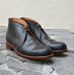 MOTO(モト)/Cordovan Chukka Boots -Black-