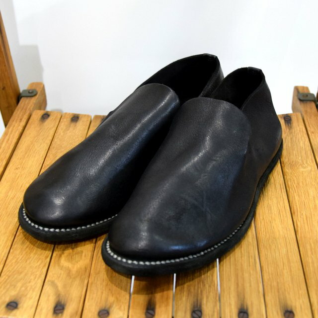 メンズ靴, その他 GUIDI() SLIP-ON SHOES -BLACK-