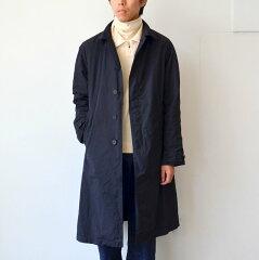 Scye Basics Garment Dyed High Density Taffeta Balmacaan Coat 5116-73560: Dark Navy