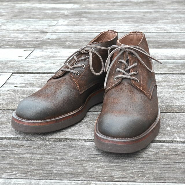 MOTO(モト)/5 inches Lace-Up Boots(Velours) -BROWN-【別注】:acoustics (アコースティックス)