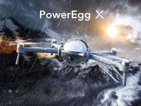 PowerVisionPowerEggXウィザード版AIカメラドローン4K自律式カメラハンディカメラ高画質スマホ水上離着陸雨天飛行リアルタイム録音オールインワン製品世界初の一台3役次世代AIドローン