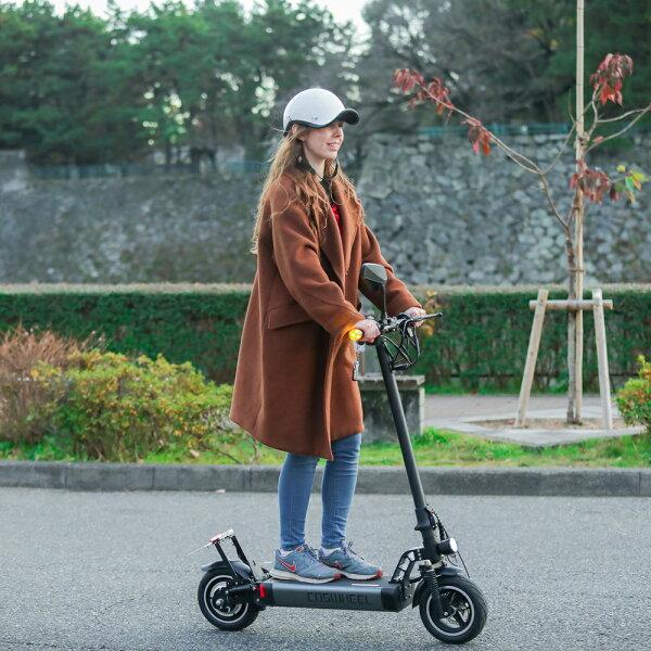 大人気  電動スケーター次世代型折り畳み式電動キックボードCOSWHEELEVScooter公道仕様2WAY乗りEVスクーター