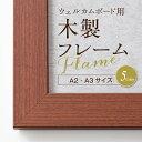 木製フレーム(A3・A2サイズ)選べる5色 [ポスターウェルカムボード用 木製フレーム] ポスター 写真 披...