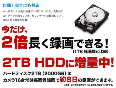 今だけ2倍長く録画できる2TBHDDに増量中!