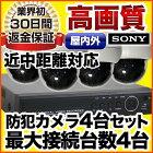 耐衝撃ドームカメラ4台セット