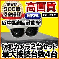 耐衝撃ドームカメラ2台セット