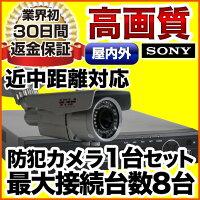 屋外用防犯カメラ+HDD搭載高性能レコーダーセットスマホ遠隔監視対応1000GB【防水暗視広角高解像度同機能機種最安値】防犯カメラset-m401-1