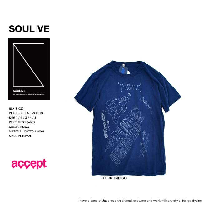 トップス, Tシャツ・カットソー 50OFF SALE SOULIVE INDIGO OGDEN T-SHIRTS Tee