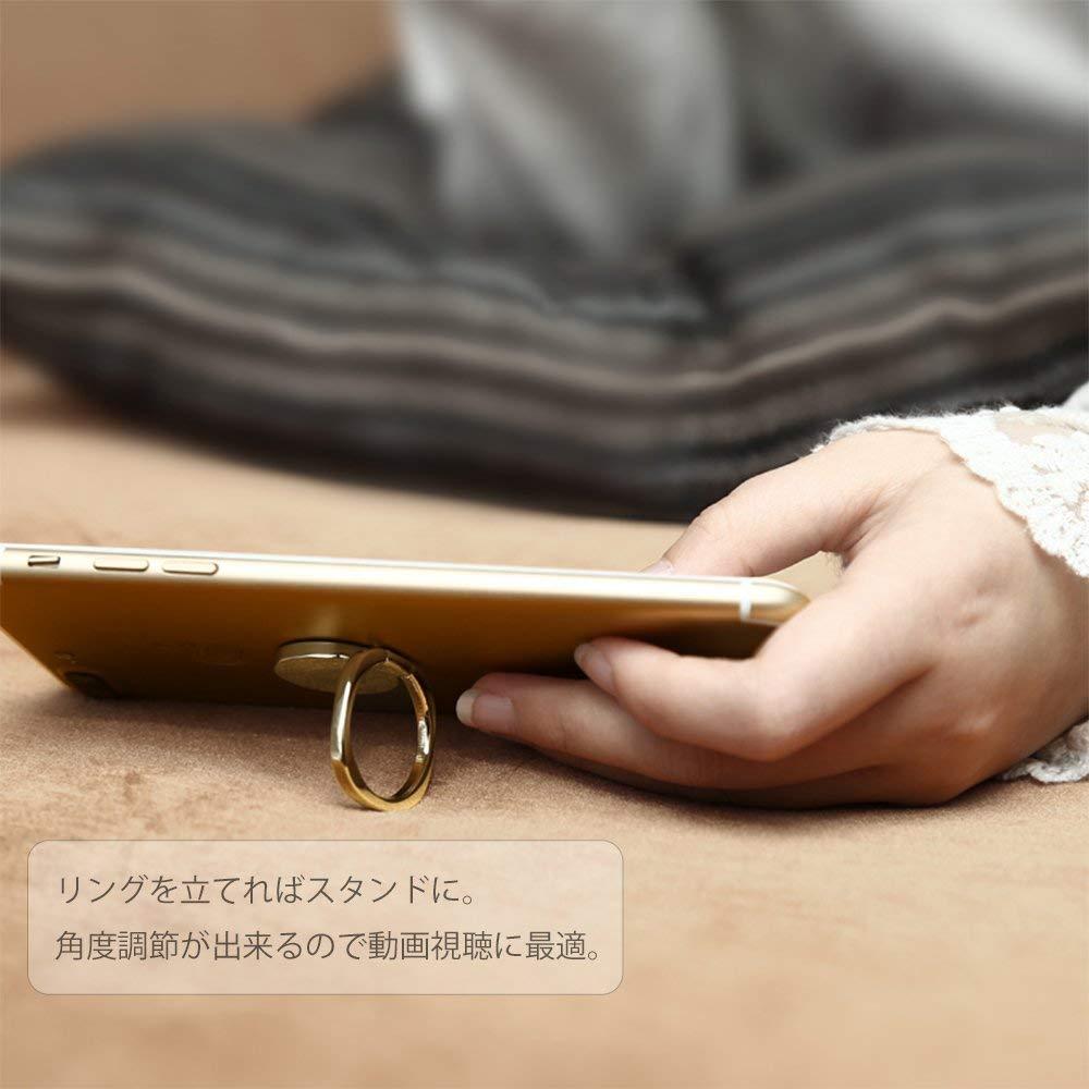 スマホリング バンカーリング iphone リング  おしゃれ スマホスタンド 落下防止 リングスタンド 指輪型 軽い 薄い 安定 Xperia ホールドリング 車載ホルダー リング マグネット対応 コンパクト 車載スタンドと併用可能  アイフォン全機種対応