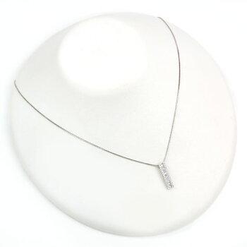 Pt900/850ダイヤモンド計0.50ctテーパーカットプラチナラインネックレス送料無料