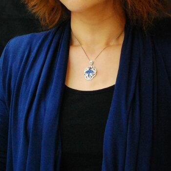 【即納】K18WGサファイアダイヤモンドインビジブルセッティングペンダントトップ/送料無料