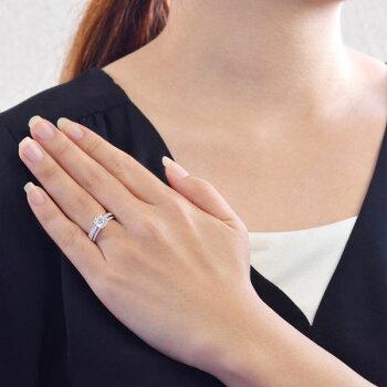 K18WGダイヤモンド計1.00ct極小爪セッティングリング/送料無料