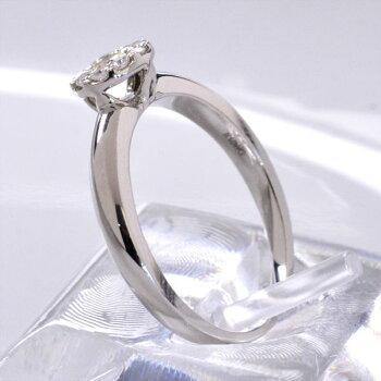 K18WGダイヤモンド0.20ct極小爪セッティングリング/送料無料