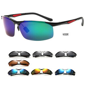U22 偏光スポーツサングラス ミラー メンズ レディース 高品質 釣り ドライブ 紫外線(UV)99%カット 軽量設計