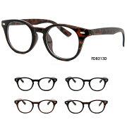 ボスリントン伊達眼鏡FD8313メンズレディース共用UVカットボストンレトロクラシック